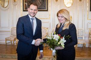 Voľby 2020: Prezidentka Čaputová a Igor Matovič.