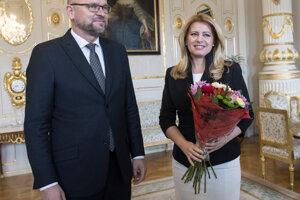 Voľby 2020: Prezidentka SR Zuzana Čaputová a predseda strany SaS Richard Sulík.
