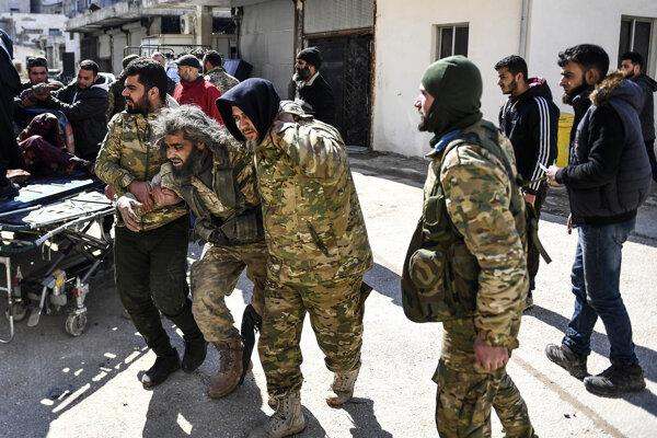 Tureckí vojaci v Idlibe.