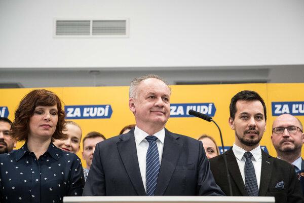 Voľby 2020: Andrej Kiska, Veronika Remišová a Juraj Šeliga predstúpili po predsedníctve strany pred novinárov.