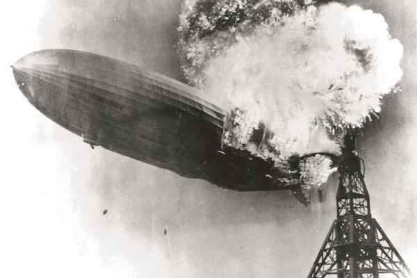 Havária vzducholode Zeppelin LZ 129 Hindenburg v máji 1937.