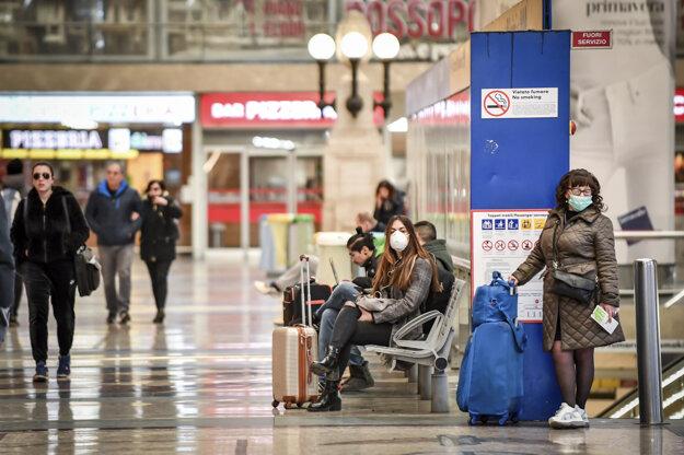Hlavná stanica v Miláne.