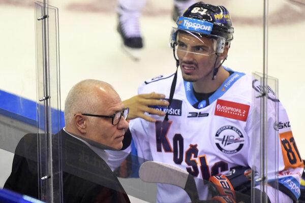Branislav Rapáč s trénerom Košíc Petrom Draisaitlom.