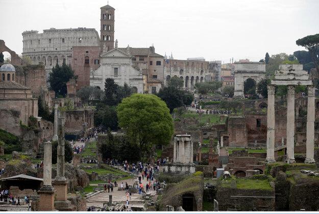 Forum Romanum pred koronavírusom..