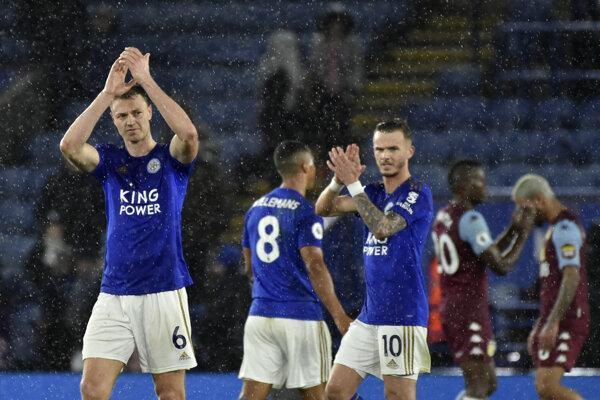 Hráči Leicester City - ilustračná fotografia.