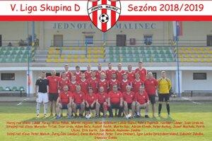 TJ Jednota Málinec ešte v sezóne 2018/19.