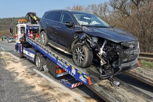 Osobné auto po nehode.