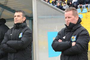 Miroslav Sovič (vpravo) viedol v minulej sezóne áčko FC Košice, v klube pôsobí aj naďalej.