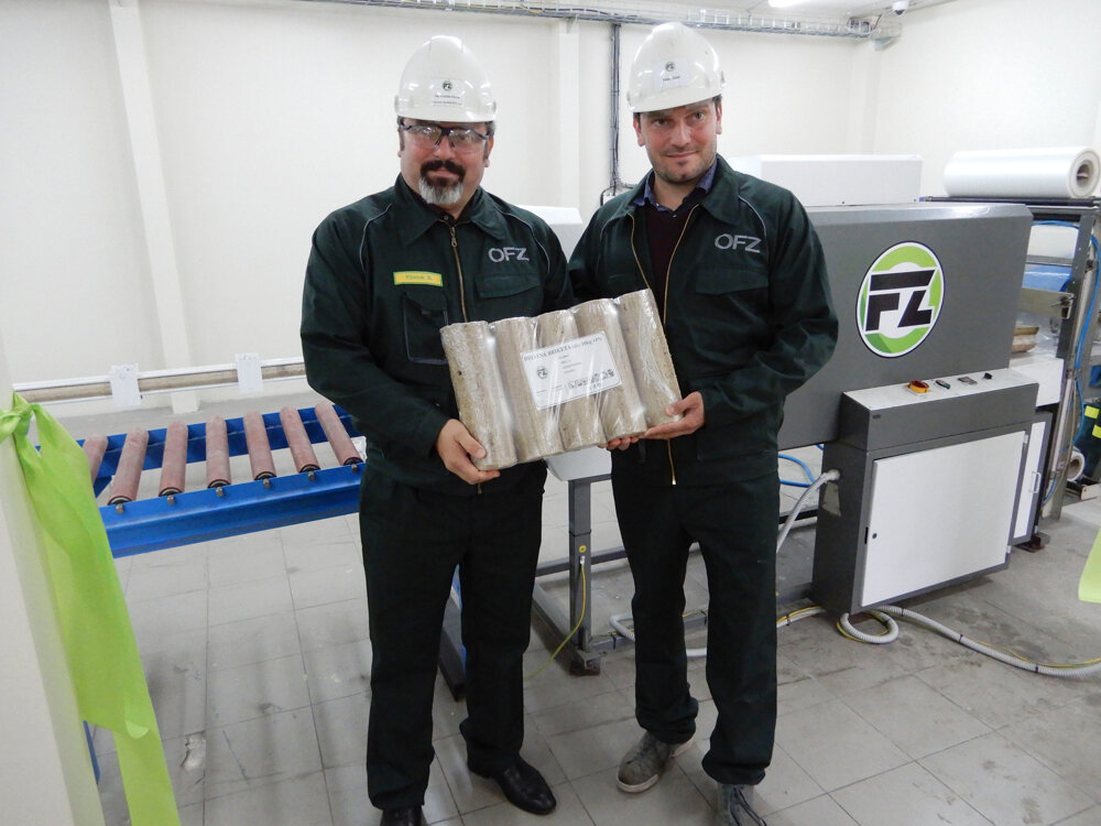 Na snímke zľava výkonný riaditeľ OFZ Branislav Klocok a projektový manažér Peter Klocok.