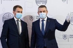 Igor Matovič a Peter Pellegrini.