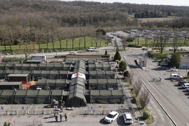 Vojenská poľná nemocnica postavená v meste Mulhouse.