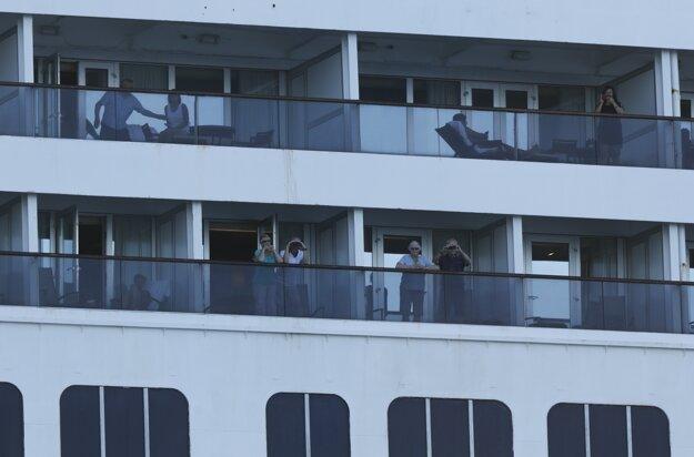 Pasažieri na lodi Zaandam.