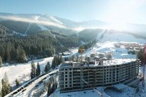 Fotografia z výstavby projektu Damian Jasná Hotel Resort & Residences.