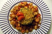Pečená fazuľa so zeleninovou sekanou