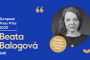 Šéfredaktorkadenníka SME BeataBalogová je nominovaná naEuropean Press Prize.