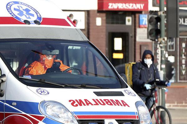 Zdravotníci vo Varšave.