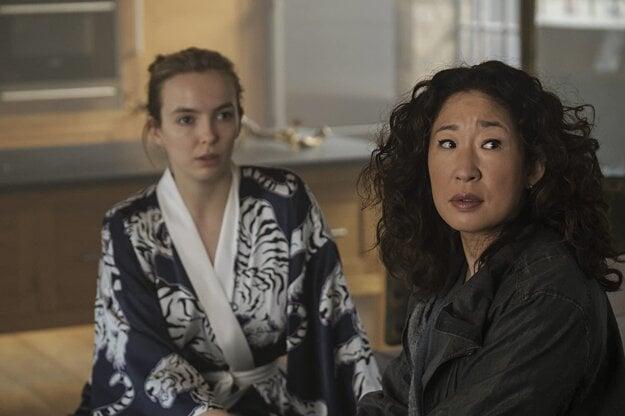 Sandra Oh a Jodie Comer v seriáli Killing Eve.