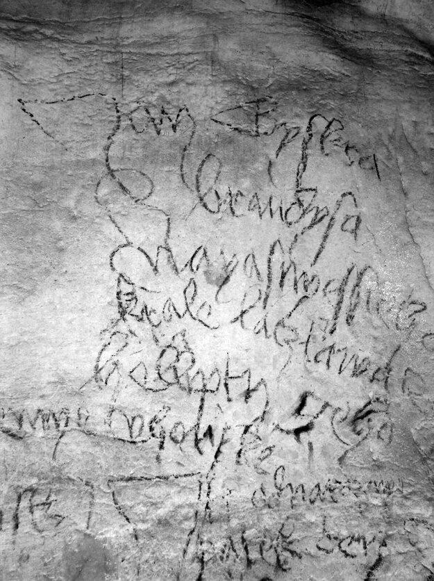 Grafito v Jasovskej jaskyni je druhý najstarším nápisom v češtine na Slovensku.