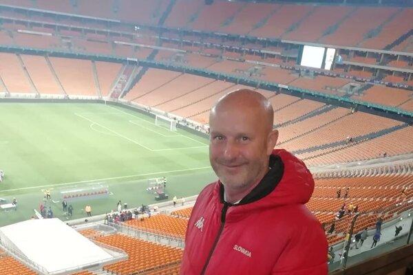 Róbert Fabíny na štadióne v juhoafrickom Johannesburgu.
