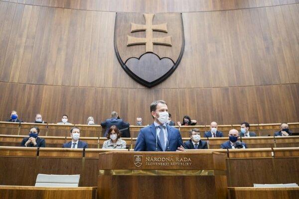 Predseda vlády SR Igor Matovič sa postavil pred poslancov Národnej rady NR SR a predložil programové vyhlásenie vlády.