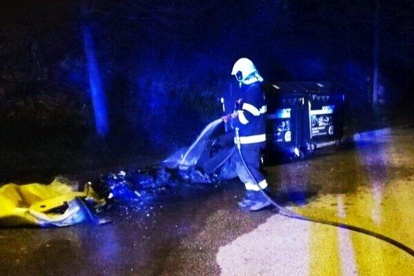 Zásah hasičov na Sídlisku Ťahanovce.