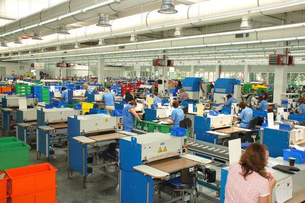 Výrobná hala firmy Gabor.
