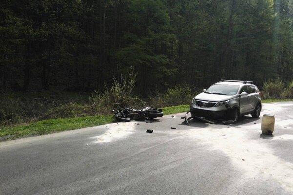 Vážna dopravná nehoda.