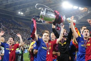 Andrés Iniesta vyhral s Barcelonou Ligu majstrov štyri razy.