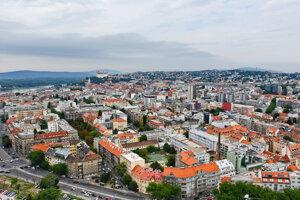 Pohľad na Bratislavu.