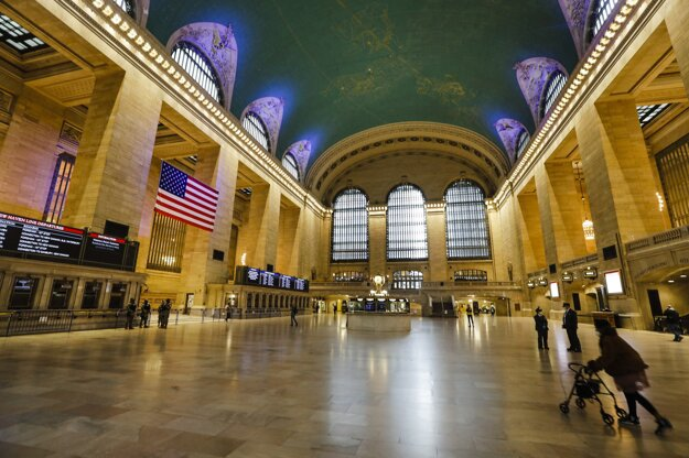 Prázdna stanica Grand Central Terminal v New Yorku.