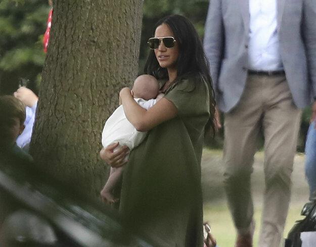 Meghan zobrala syna na jazdecké pólo v júli 2019.