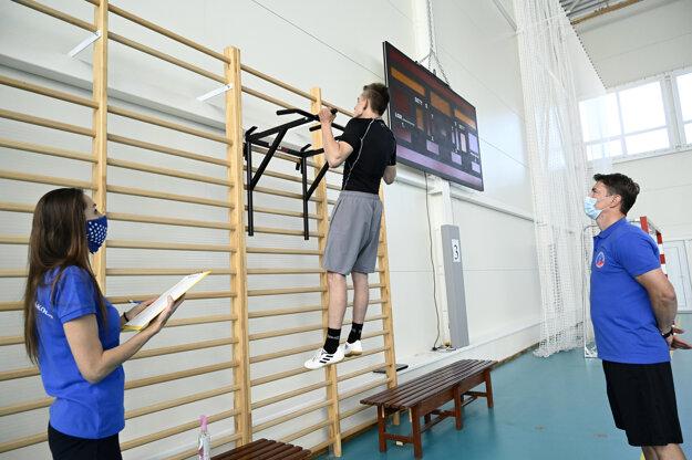 Mladý hokejista počas talentových prijímacích skúšok do Hokejovej akadémie pri Strednej športovej škole v Trenčíne.