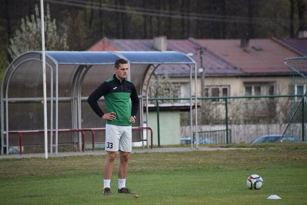 Roland Šmahajčík na prvom pandemickom tréningu.