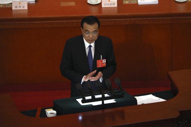 Čínsky premiér Li Kche-čchiang. Peking, 22.5.2020.