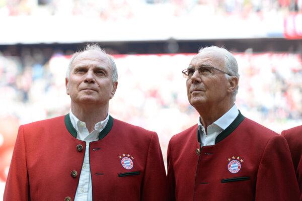 Franz Beckenbauer (vpravo) a Uli Höness.