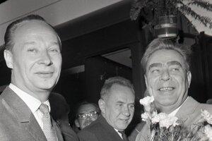 Alexander Dubček a Leonid Brežnev.