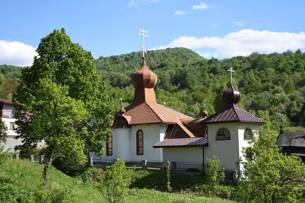 Chrám Nanebovstúpenia Isusa Christa v Ruskom Potoku.