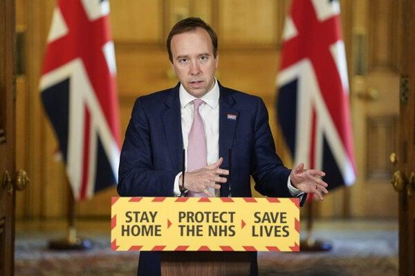 Britský minister zdravotníctva Matt Hancock.