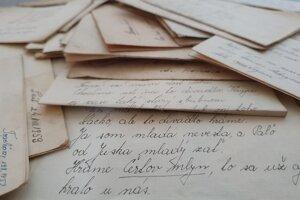 Listy si písali budúci manželia - vtedy asi 15-ročná Margita Kupcová a 21-ročný vojak Ladislav Lukáč.