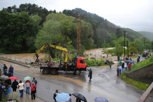 Povodne 2010 v Sabinove.