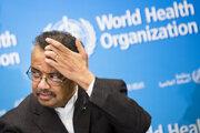 Generálny riaditeľ Svetovej zdravotníckej organizácie (WHO) Tedros Adhanom Ghebreyesus hovorí k novinárom v sídle WHO v Ženeve 30. januára 2020. Krízový výbor WHO vyhlásil stav globálnej zdravotnej núdze.