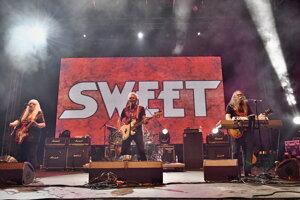 Koncert britskej glam rockovej kapely The Sweet na 20. ročníku festivalu Lodenica v Piešťanoch v sobotu 1. septembra 2018.