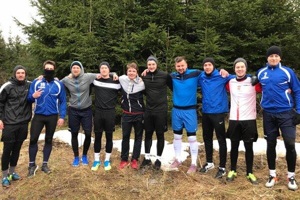 Mužstvo Kysučan Korňa počas zimnej prípravy.