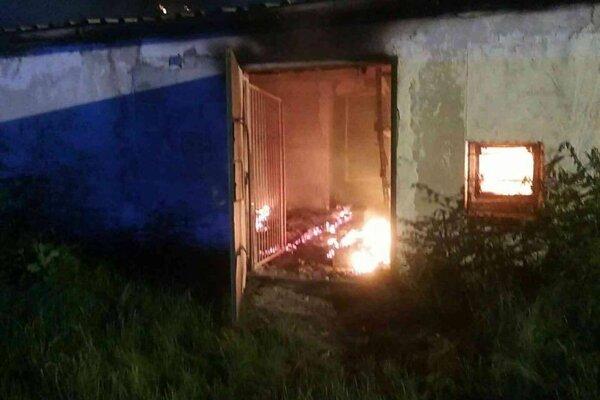 Požiar lakovne.