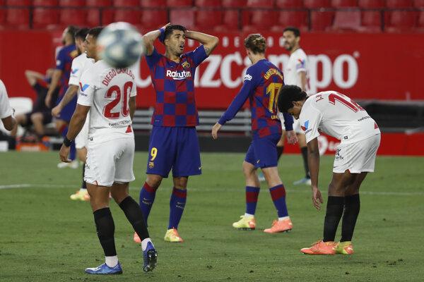 Momentka zo zápasu FC Sevilla - FC Barcelona.