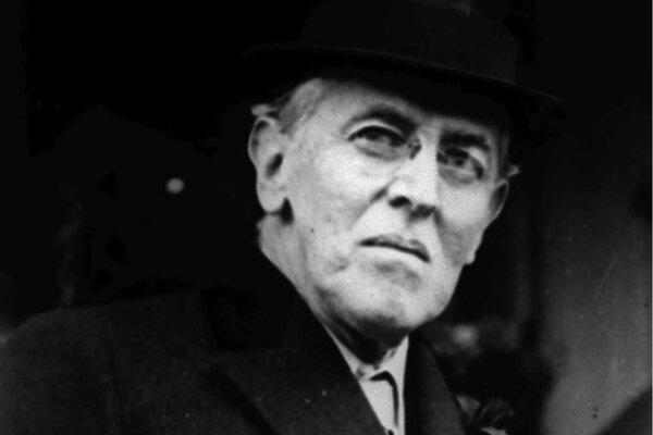Bývalý prezident USA Woodrow Wilson na snímke z roku 1924.