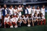 Futbalisti Československa po víťazstve nad Talianskom v súboji o bronz na ME 1980.
