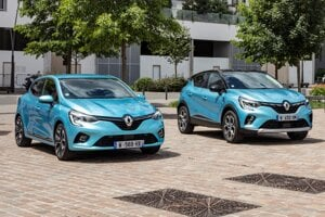 Hybridné Clio E-Tech a plug-in hybridný Captur E-Tech