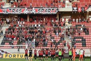 Fanúšikovia FC Spartak Trnava na zápase.