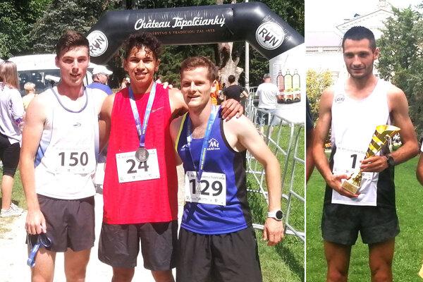Na ľavej snímke zľava Adam Kĺbik, Aaron Belmenen, Dominik Jakubkovič, vpravo Marek Hladík.